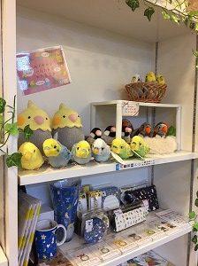 小鳥カフェの物販